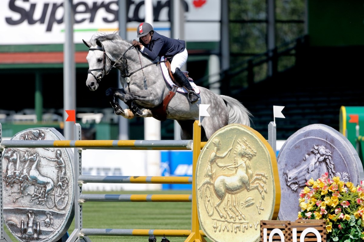 Quidam Blue at Spruce Meadows North American tournament.