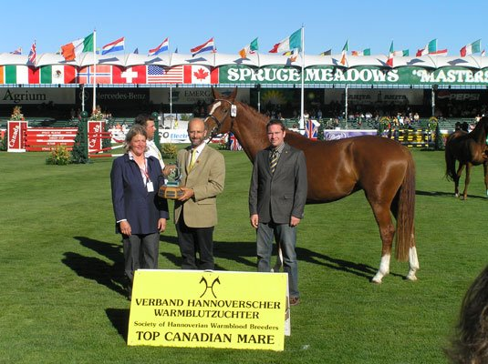 Windhuk II awarded Top Canadian Mare
