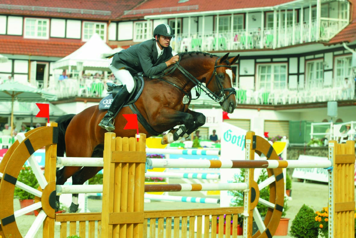 Portland L competing in Europe with rider and German Team member Marco Kutscher