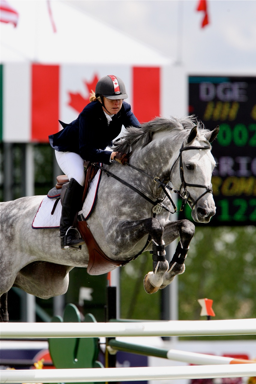 """Quidam Blue"" at Spruce Meadows National with Jill Henselwood."